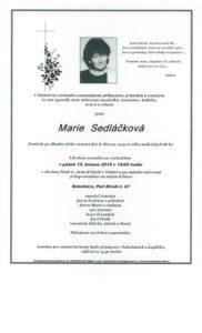 Parte - Sokolnice-Marie Sedláčková